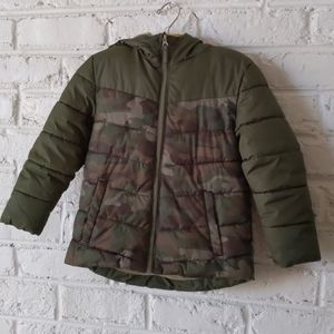 Healthtex camo puffer jacket with fleece lining